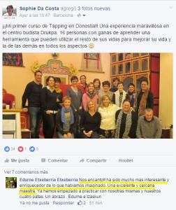 Curso Tapping Donostia San Sebastián Noviembre 2015
