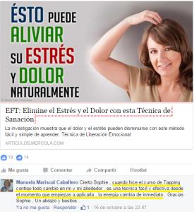 Testimonio Curso Tapping Facebook